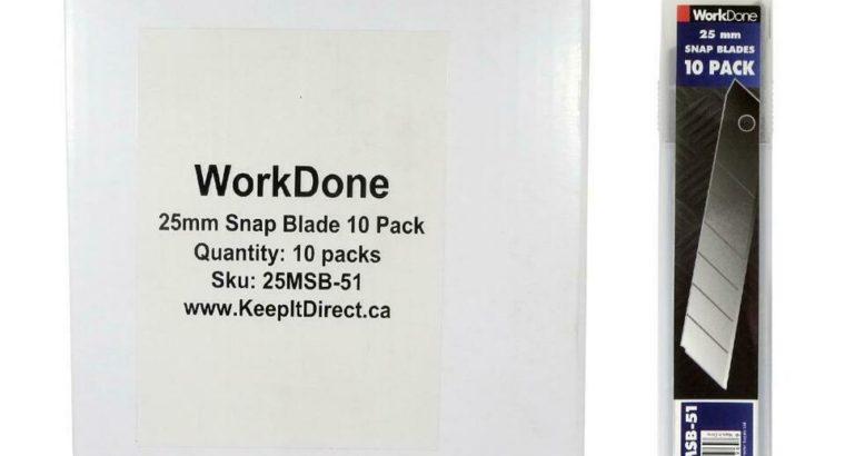 25mm Snap Off Blade 10 Packs – Min 100 Blades – Bulk Discounts