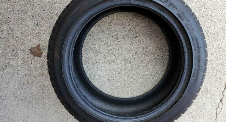 Dunlop Sportmaxx rt tires, almost new. 235/45/17