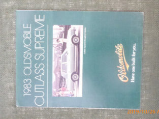 1983 Olds Cutlass Supreme Brochure, in Penticton
