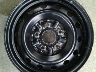 4 14 inch steel rims $100, 5 hole 64.1 mm center hole.