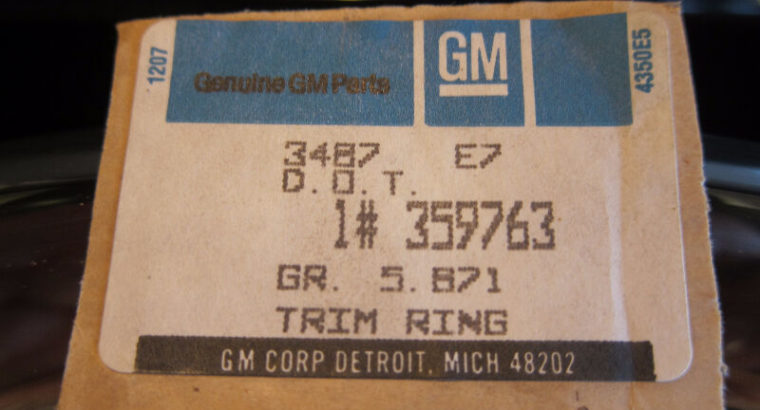 Genuine GM 359763 Wheel Trim Ring