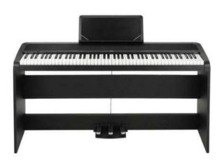 Korg B1SP with STAGE STAND BLACK Digital Piano Package **3 Pedals** *Best Price* — $699.99 — Red One Music