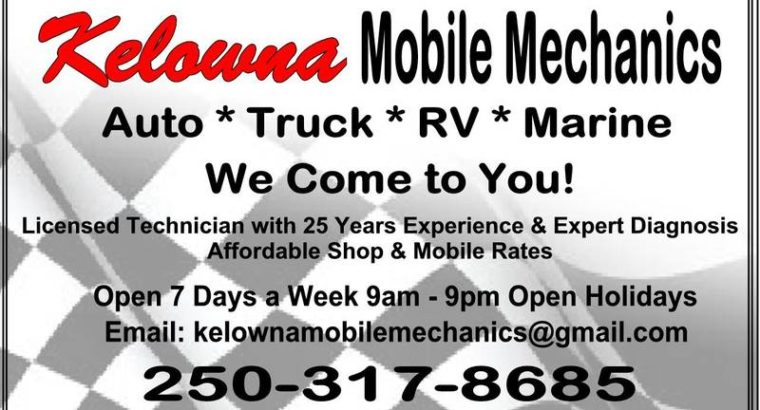 Kelowna Mobile Mechanics