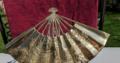 Vintage decorative brass fan