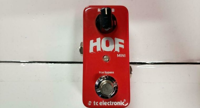 TC Electronics Hall of Fame HOF Mini Reverb Pedal OPEN BOX – EXCELLENT CONDITION – RED ONE MUSIC