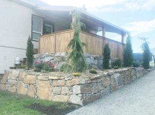 Rock Retaining Walls & Landscaping
