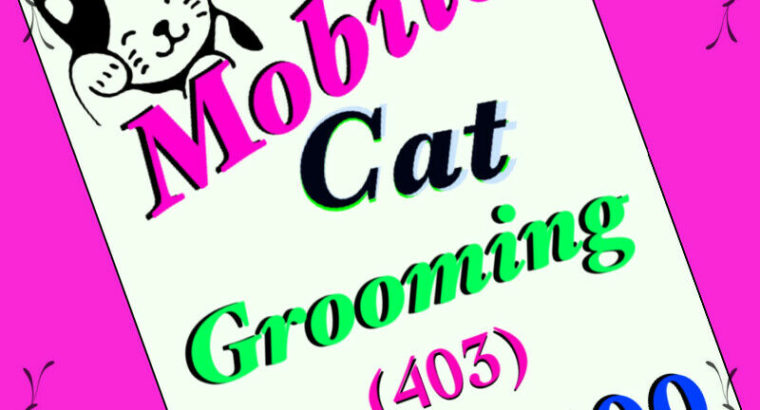 SAME DAY **. Mobile Cat Grooming