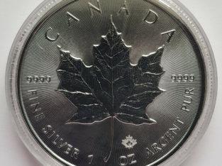 Canada Silver Canadian Maple Leaf 1 oz Silver 999 9999 Coins