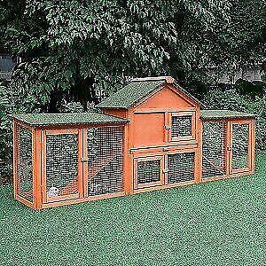 83 Chicken Coop Rabbit Hutch Large Hen House Wooden Animal Pet Cage with Run – Brand new – FREE SHIPPING