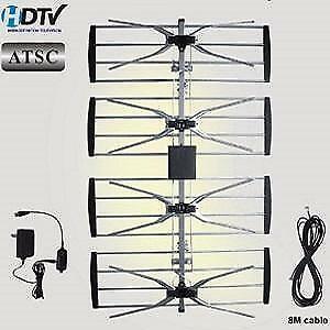 Weekly promo! 4 bay HDTV Antenna with amplifier, Electronic Master ANT2092, $44.99(was$59.99)