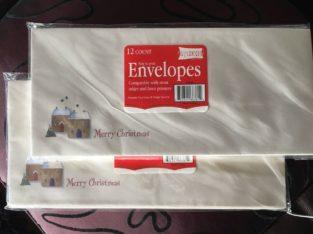 BN Merry Christmas envelopes (24 in total)