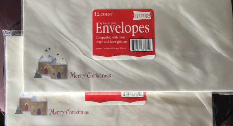 BN Merry Christmas envelopes (24 in total)
