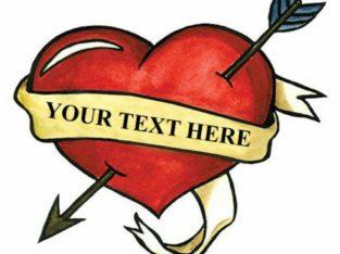 Temporary Tattoo Heart – fake tattoos temp hearts