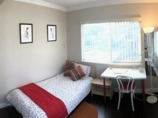 **furnished large room, 3mins to SkyTrain & 13mins to D/Town.**