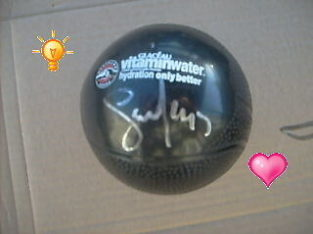 Hot Buy : Vitamin water rubber ball autographed by Steve Nash –
