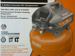 RIDGIT 6 Gallon Electric Pancake Air Compressor.
