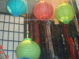Paper lanterns 10″with light bulb $1.25ea when purchase of 12