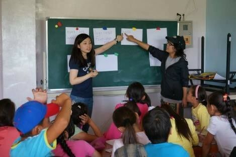 Teaching English to students in Mongolia