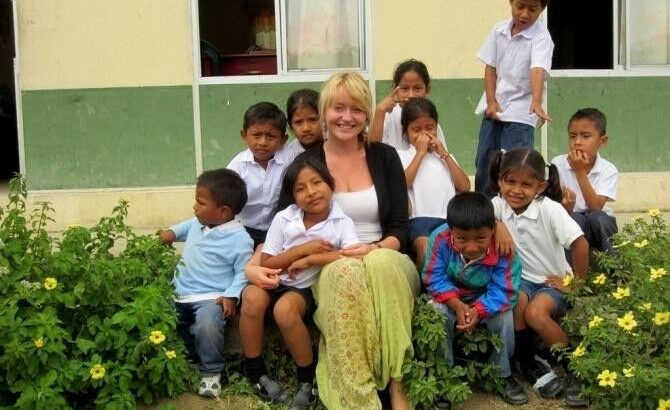 Teaching disadvantaged children in Ecuador