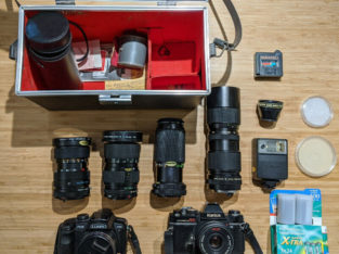 Cameras and Lenses (Canon, Panasonic, Konica, Vivitar)