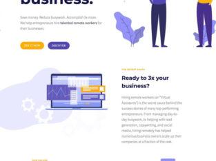 Free professional websites built on WordPress