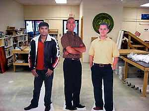 Custom Life Size People Figures /print & die cut coroplast signs
