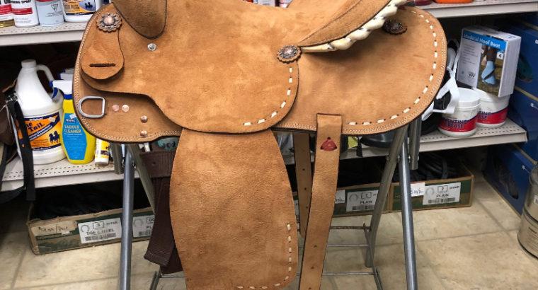 New 16″ 1D Saddlery Brazilian Rough Out Barrel Saddle