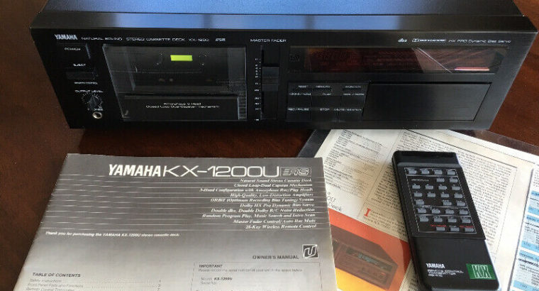 Yamaha KX-1200 Cassette Deck – TOTL – FULLY SERVICED