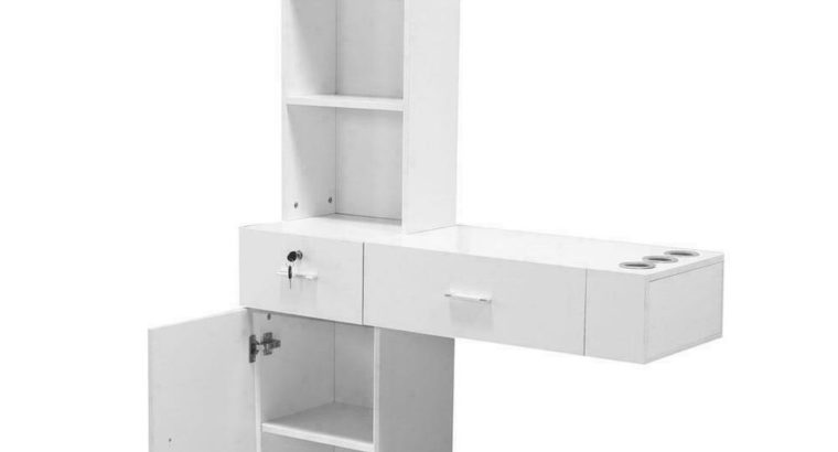 Wall Mount Hair Styling Station Barber Cabinet Beauty Dest Salon Spa Equipment – 3 COMBOS TO CHOOSE FROM – FREE SHIPPING
