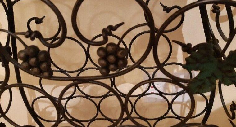 """Bombay, Decorative Wrought Iron Wine Rack"""