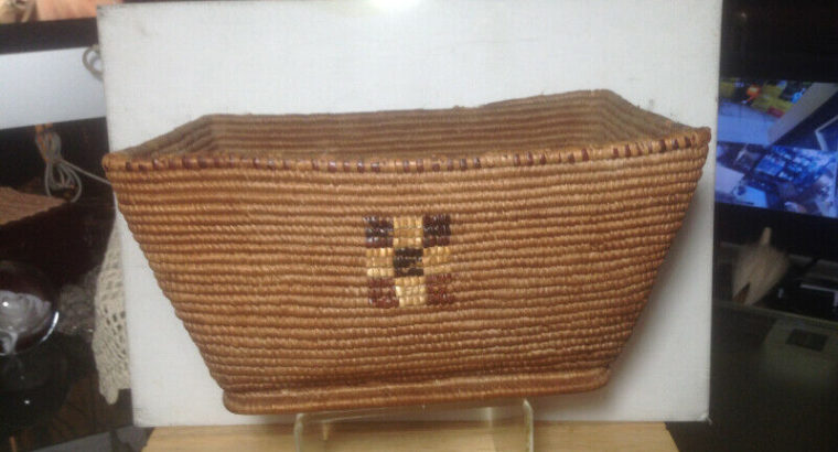 Antique First Nations Native Salish Thompson River Basket BC 190