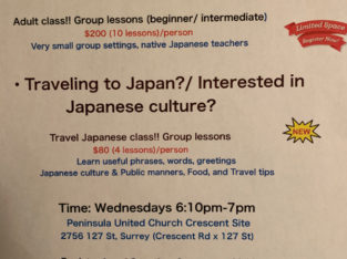 Japanese language class!! (South surrey/Whiterock)