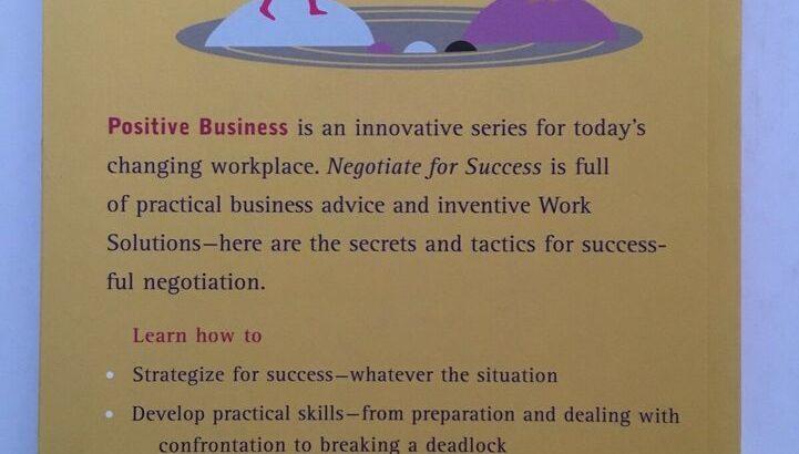 Negotiate for success book