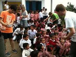 Teaching and developing the education programs in India