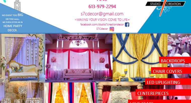 Wedding and Event Decoration Service 2020-2021 Welcoming Booking