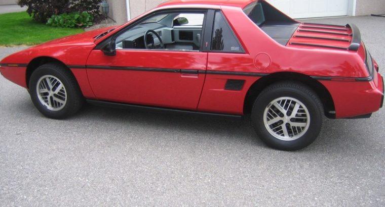 1984 Fiero. Ultra low miles