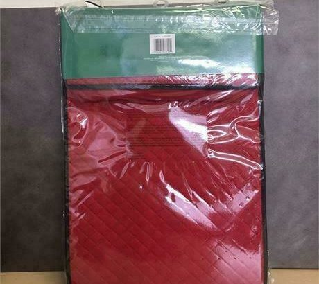 New, Christmas Storage 14 in. x 5 in. Christmas Gift Wrap and Ornament Box RED DI17