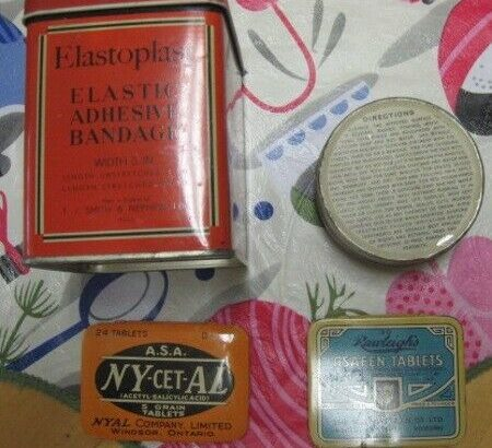 Vintage Medicine Bottle and Box Collection