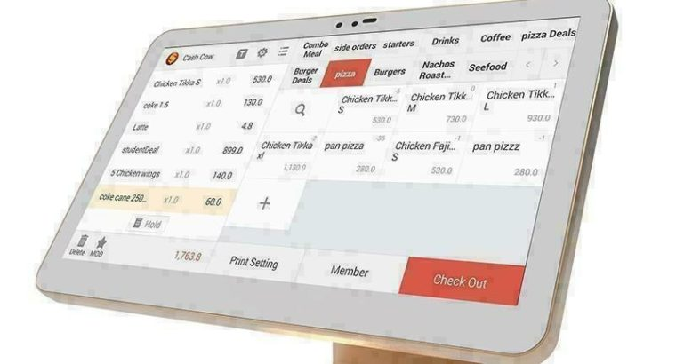 Double Screen Cash Register POS No Monthly Fee Free Software For Retail Or Restaurant