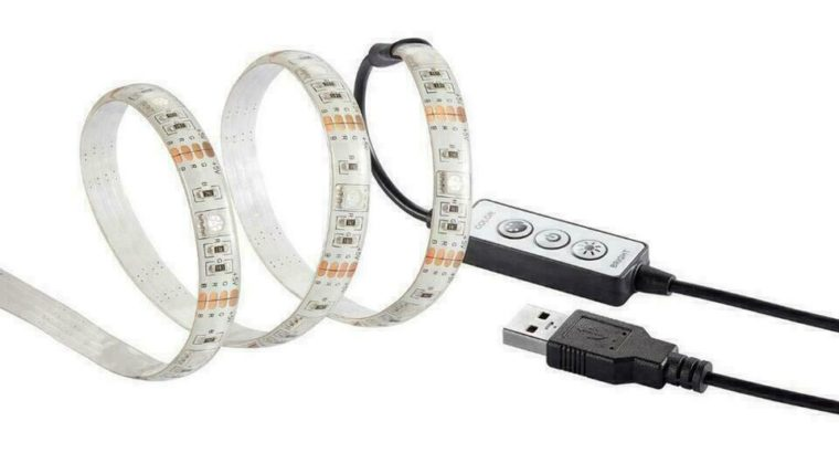Insignia NS-PCG6RGB18-C 6′ RGB Multi-Colour Dimmable LED Strip Light (New Other)