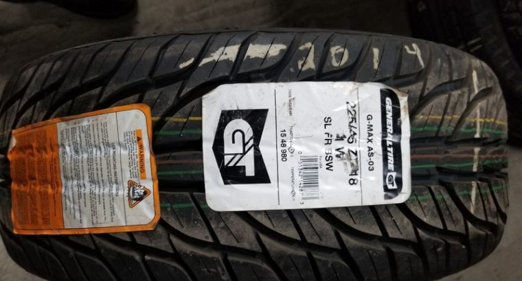 1 P225/55R18 GENERAL – NEW