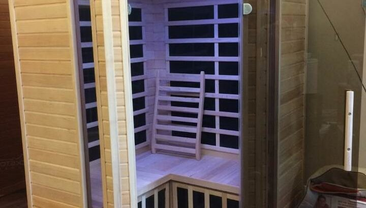 Blackstone Far infrared corner two person saunas on sale $2299, was $2999