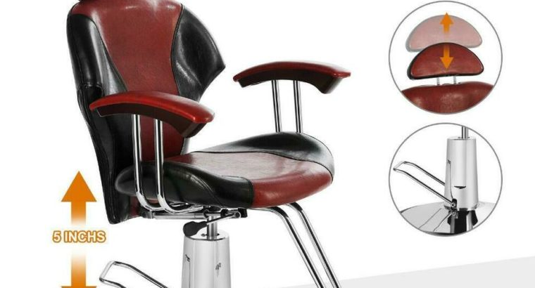 Black + Red Barber Chair Hydraulic Reclining Styling Salon Beauty – brand new – FREE SHIPPING