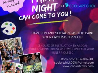 "Paint night ""Let's paint"", Art classes"
