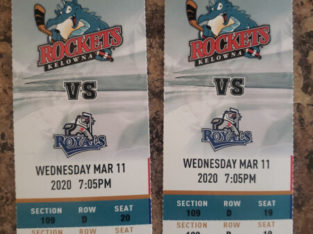 2 Tickets for March 11 Rockets game