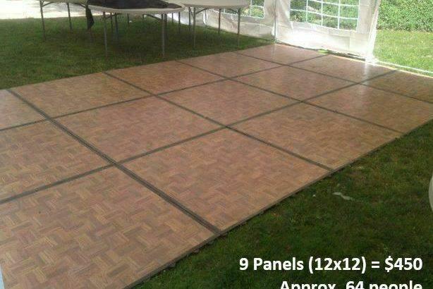 Outdoor Tents for Rent, tables, chairs, dance floor, lighting