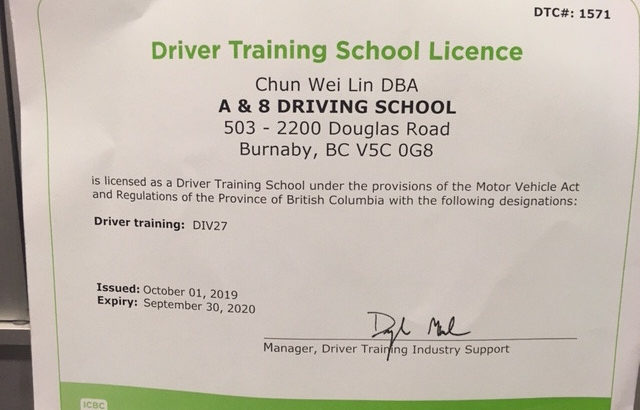 Driving lessons from ICBC licensed driving school instructor