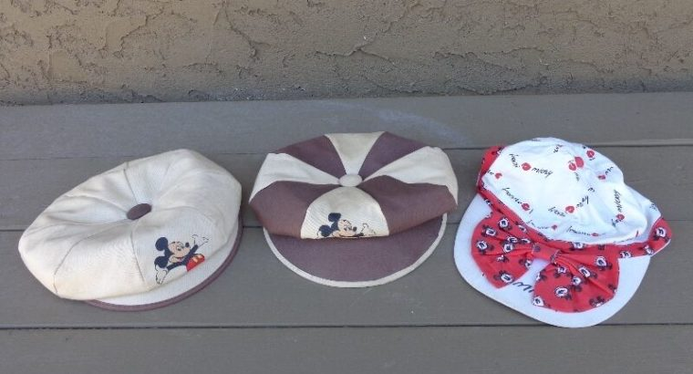 Three vintage Mickey Mouse Hats reduced!