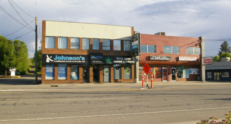 Main floor Retail and second floor Office space for Rent VERNON