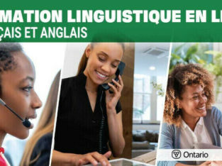 Free English or French online language course